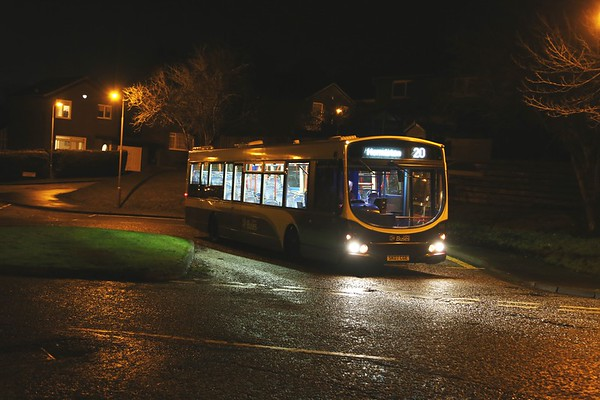 148 is a regular on the 20 at Hallcroft Park.  It terminates at Hermiston Gait, not Hermiston though - it's the Park and Ride on A71!   Dare say that's the best option on a blind.