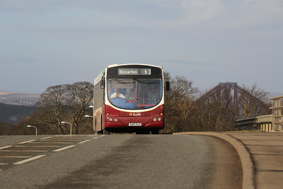 133 climbs over the A90 at South Queensferry heading towards Kirkliston on the supported 63