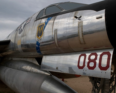 A very shiny Convair B-58 Hustler at the Pima Air & Space Museum in Tucson, Arizona