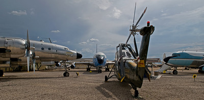 An array of aircraft that used to be part of the Presidential air fleet. Pima Air & Space Museum, Tucson, AZ