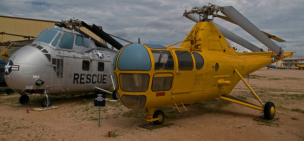A couple of old choppers at the Pima Air & Space Museum, Tucson Arizona