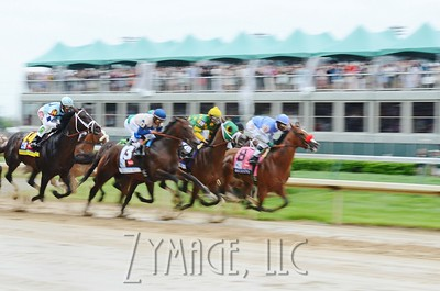Start of the 139th Kentucky Derby at Churchill Downs. May 4th, 2013.