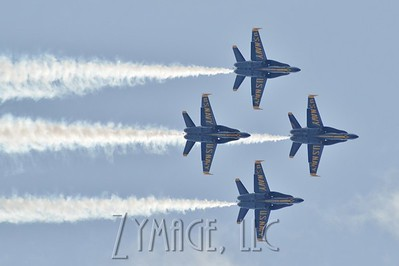 The Blue Angels performed in the Thunder Over Louisville Air Show Saturday afternoon. April 12, 2014.