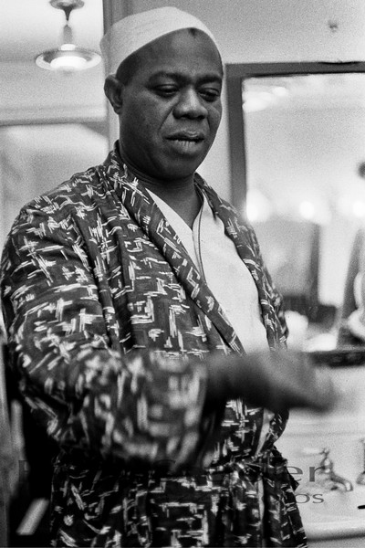 Louis Armstrong backstage