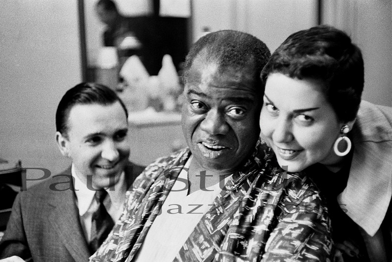 Louis Armstrong with Paul Studer and Jeann Faillows 02