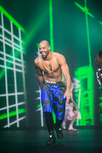 Male Model Louis Rennocks at the Clothes Show 2015