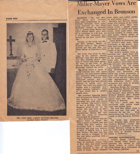 Larry & Louise Wedding Announcemtnt