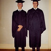 Larry Miller close Friend Roy Bregg graduation photo from Argubright Business College Battle Creek Michigan 1964