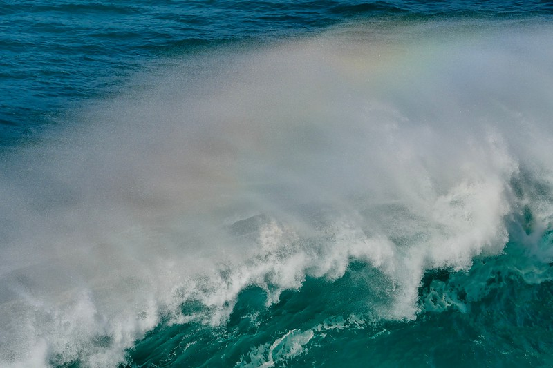 Arc-en-ciel sur vague /  Rainbow on Wave  IMG_0955