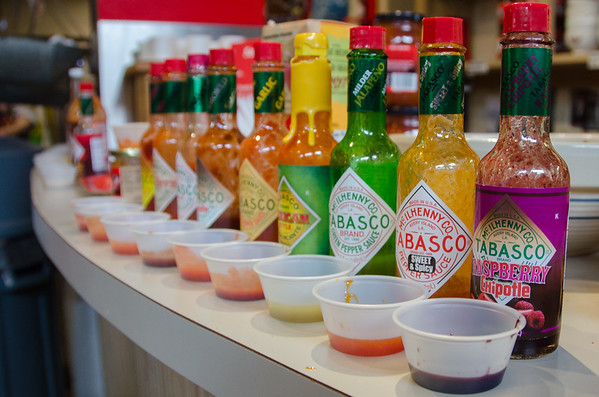 Tabasco and other hot sauce | Cajun dishes in Louisiana