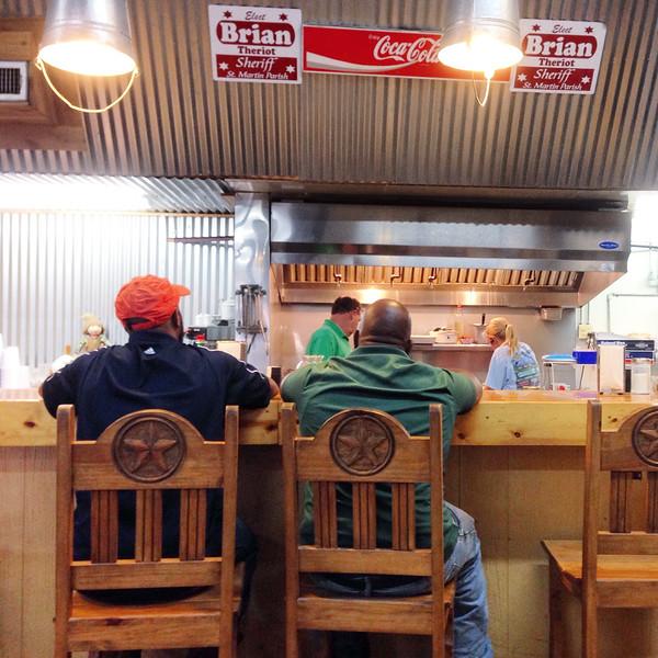 A Cajun diner near Lafayette, LA
