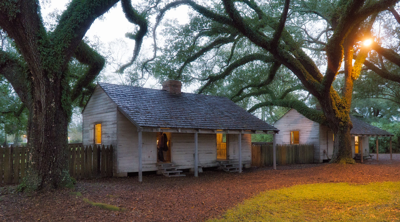 Oak Alley Plantation slave quarters.