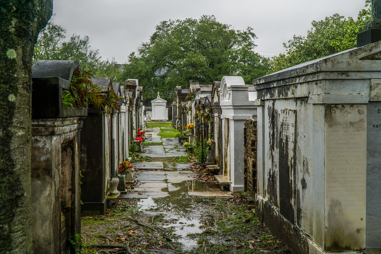 Lafayette Cemetery No. 1.  Bodies are buried above ground because of the high water table.