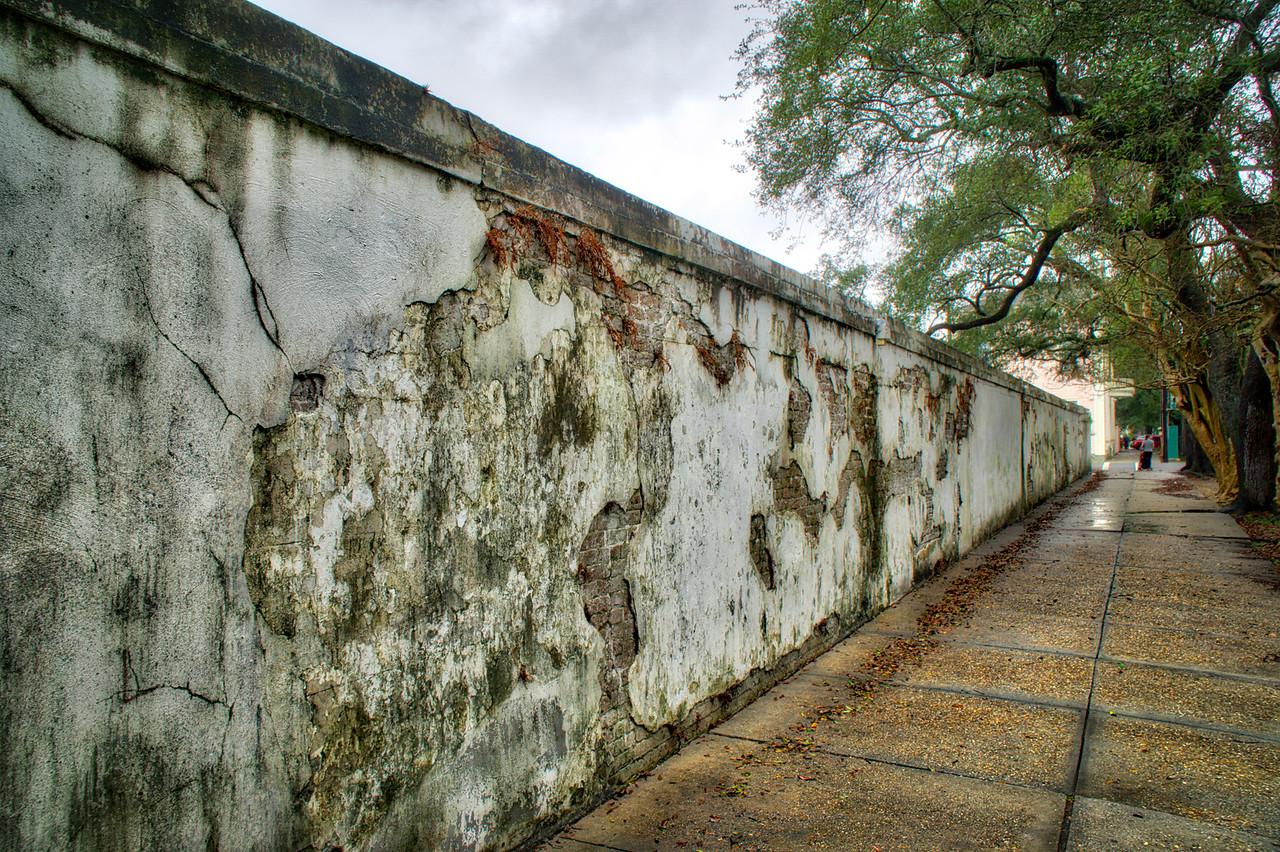 Wall surrounding Lafayette Cemetery No. 1.
