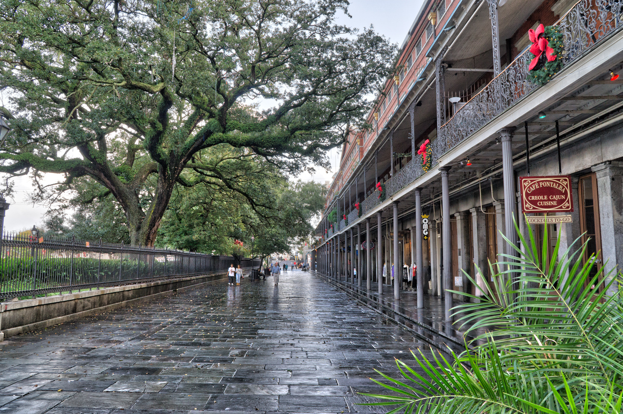 Rainy day in New Orleans.