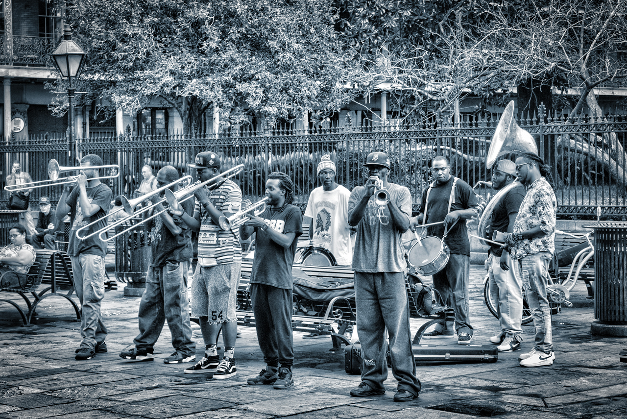 Live music in Jackson Square.