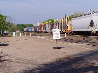 Passing Freights in Longview