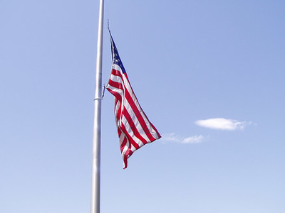 Flag at Kennedy Memorial