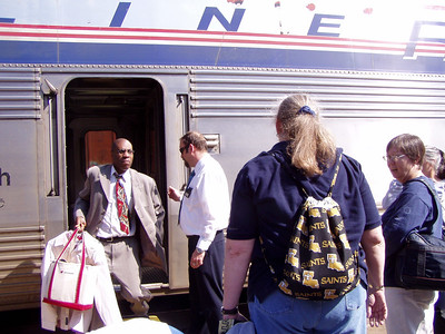 Boarding Amtrak to Dallas