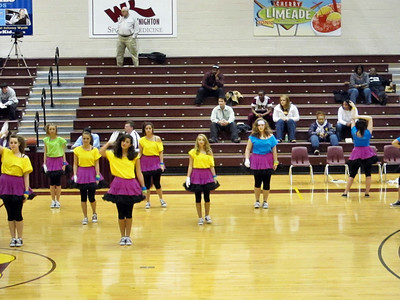My great niece Kellie danced with the Haughton High School High Steppers at the Bossier Parish Community College basketball game.