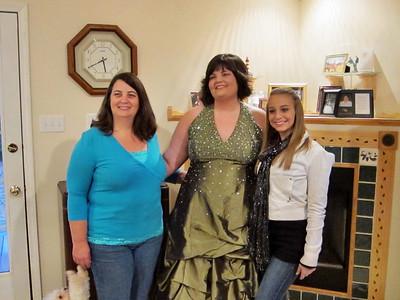 Before the Mardi Gras Ball photos:  Mom Sandra, Jessica and Kellie.