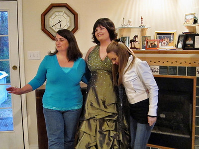 Before the Mardi Gras Ball photos:  Mom Sandra, Jessica and Kellie.