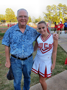 October 2011 Trip To Louisiana - Reagan with Kellie Abbot - Cheerleader at Haughton High School, Louisiana