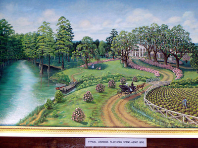 14  Louisiana Plantation Scene