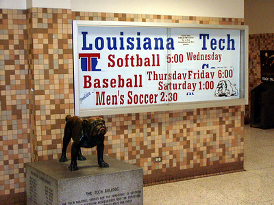 Tech Bulldog in Student Center