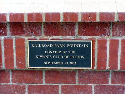 Ruston, LA Railroad Park Fountain