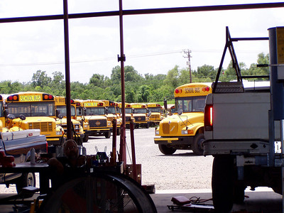 22  Buses Parked at Angle - Bobby's Idea