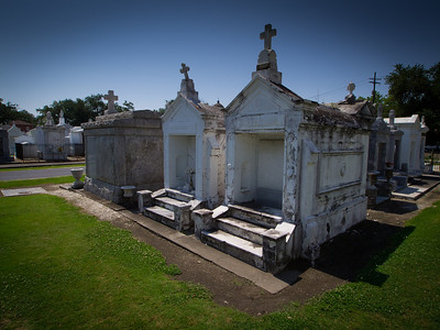 St Louis Cemetery No 3, Esplanade Avenue, New Orleans, Louisiana, USA  The cemetery was heavily flooded during the aftermath of Hurricane Katrina in 2005, but its tombs escaped relatively unscathed.