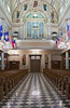 The Saint Louis Cathedral church interior in New Orleans, Louisiana, USA.