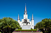 The Saint Louis Cathedral church in New Orleans, Louisiana, USA.