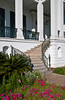 The Nottoway Plantation home staircase on the Mississippi River, Louisiana, USA, America