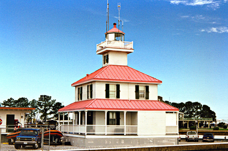 A second lighthouse was built by the Lighthouse Board in 1855 using iron pilings. The lantern held a 5th order Fresnel lens.