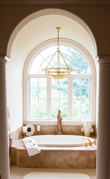 Upper Master Suite I — The master bath is crafted from hand selected marble throughout.