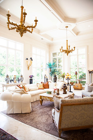 The Great Room — The antique candelabra sconces upon the wall again add that touch of old world European charm, fused with modern day luxury.