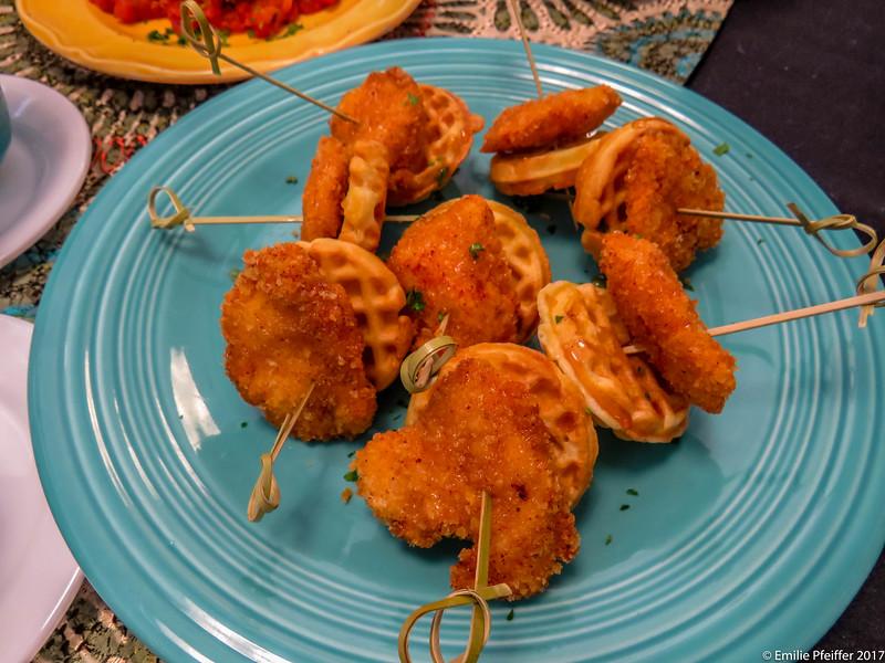 Bite Size Chicken & Waffles
