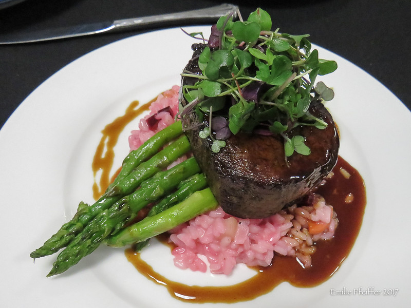 Beef Tenderloin with Root Vegetable Risotto