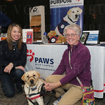 Michele Hill, Harley and Lee Anne Embry with Paws With Purpose.