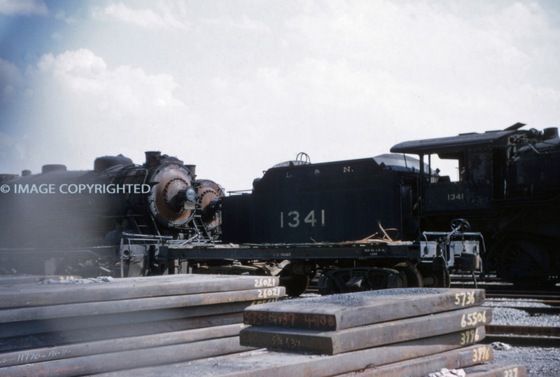 L&N 2 - Sep 19 1954 - tender of No 1341 2-8-0 at Granite City Steel Co ILL