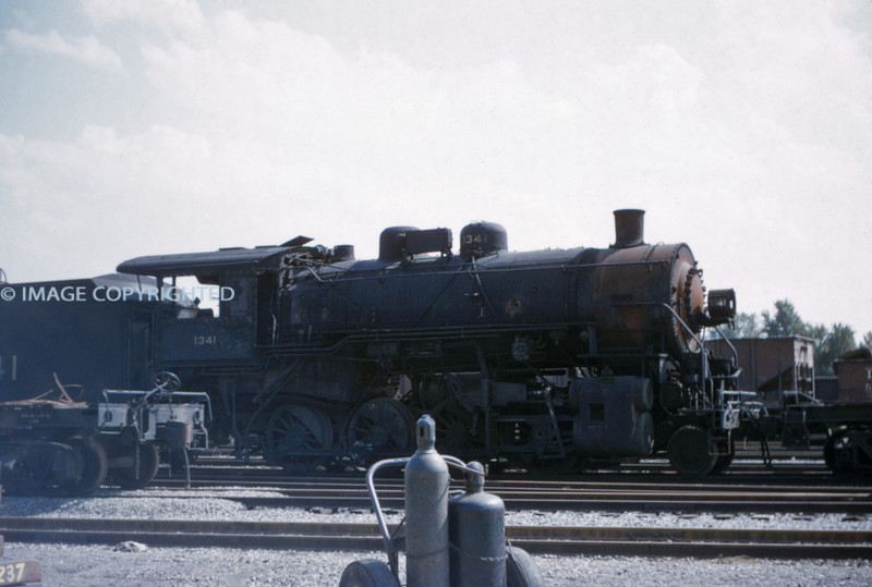 L&N 1 - No 1341 2-8-0 at Granite City Steel Co ILL