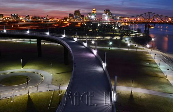 Big Four Bridge View of Louisville