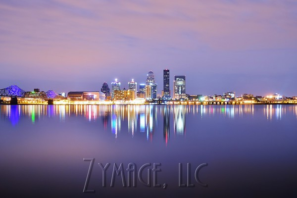 Louisville, KY Skyline, Ohio River Bridges, Sunsets, Moon and Lightning Photography