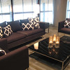 Square Sofa, Square Chair, Low Cube Coffee Table