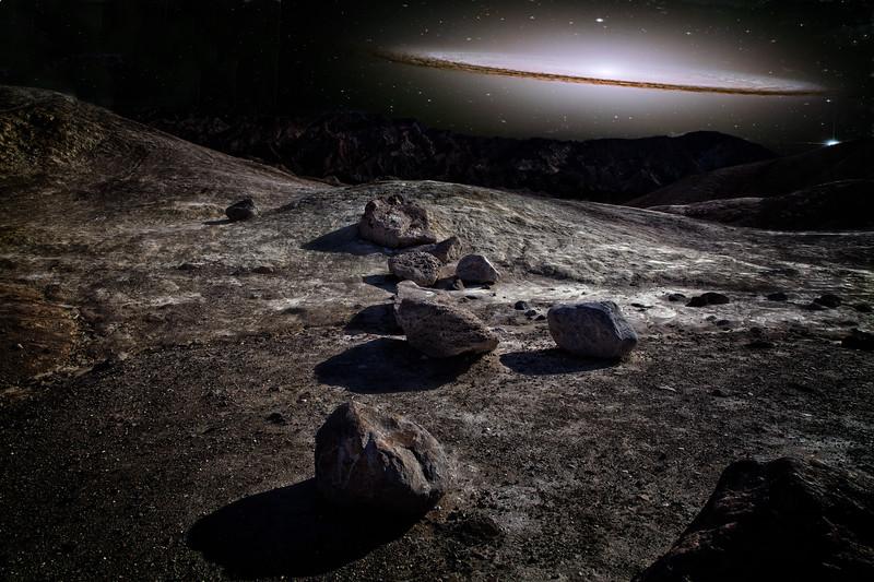 Death Valley Hubble galaxy