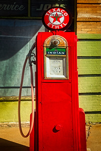Red Texaco Pump