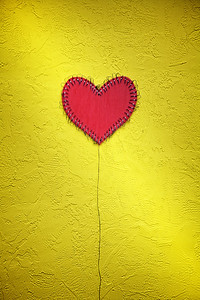 Heart on Yellow Wall