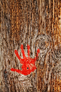 Red Hand on Barnwoood Death Valley